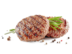 Churrasco e hambúrguer